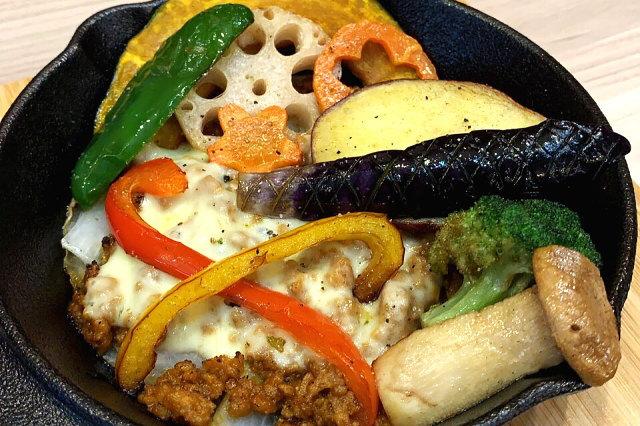 キーマ野菜チーズ焼き